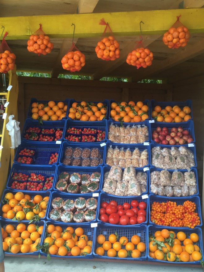 Delicious orange stand